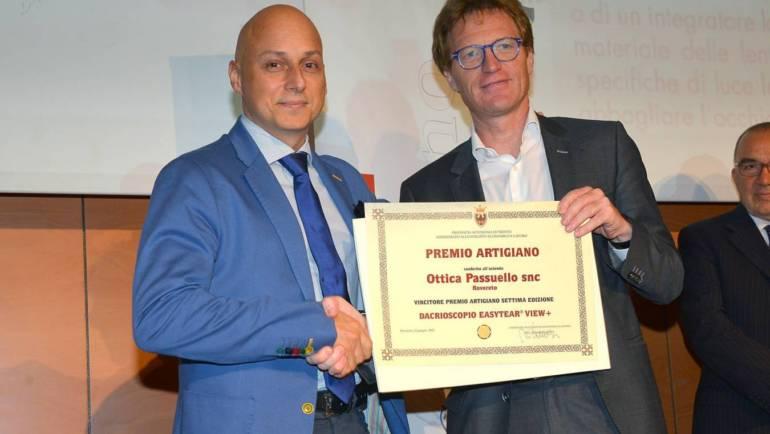 Ottica Passuello vince il premio artigiani 2015